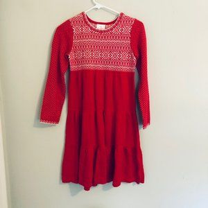 Hanna Andersson Knit Red Valentine Dress